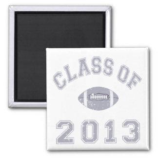 Class Of 2013 Football - Grey 2 D Fridge Magnets
