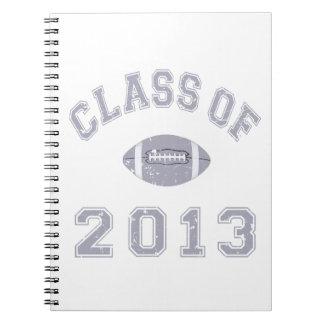 Class Of 2013 Football - Grey 2 D Notebook