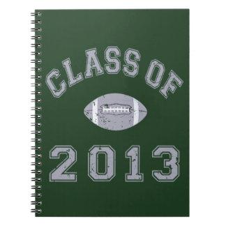 Class Of 2013 Football - Grey 2 D Spiral Notebooks