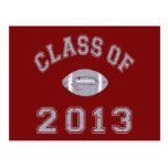 Class Of 2013 Football - Grey 2 D Post Card
