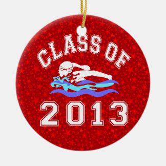 Class Of 2013 Girl Swimming Ceramic Ornament