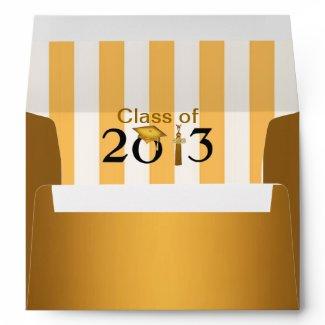 Class of 2013 Gold & Black Grad Envelope