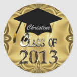 Class Of 2013 Gold Graduation Stickers