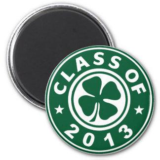 Class Of 2013 Good Luck Shamrock 2 Inch Round Magnet