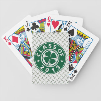 Class Of 2013 Good Luck Shamrock Bicycle Playing Cards
