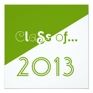 Class of 2013 Grad Invitation Clean Fun Text