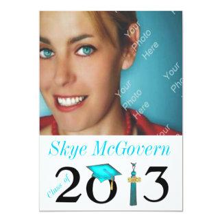 Class of 2013 Grad Photo Invite Aqua