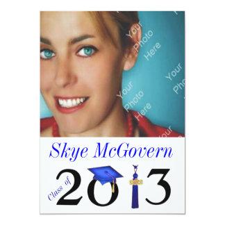Class of 2013 Grad Photo Invite Blue