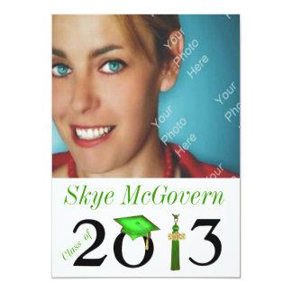 Class of 2013 Grad Photo Invite Green