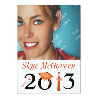 Class of 2013 Grad Photo Invite Orange