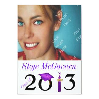 Class of 2013 Grad Photo Invite Purple