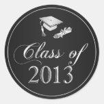 Class of 2013 Graduation Cap & Diploma Seals Stickers