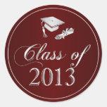 Class of 2013 Graduation Cap & Diploma Seals Sticker