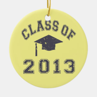 Class Of 2013 Graduation Double-Sided Ceramic Round Christmas Ornament