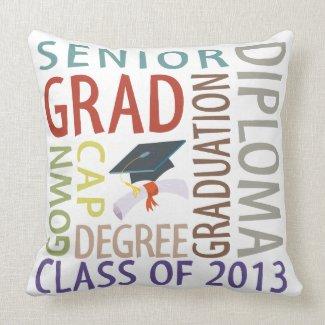 Class of 2013 Graduation Throw Pillow
