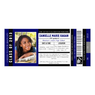 Class of 2013 Graduation VIP Admission Ticket Personalized Announcements