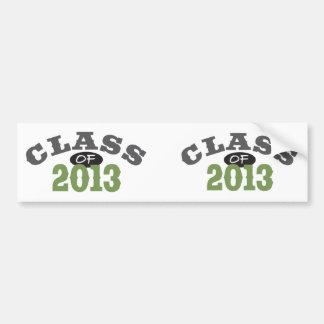 Class Of 2013 Green Bumper Sticker