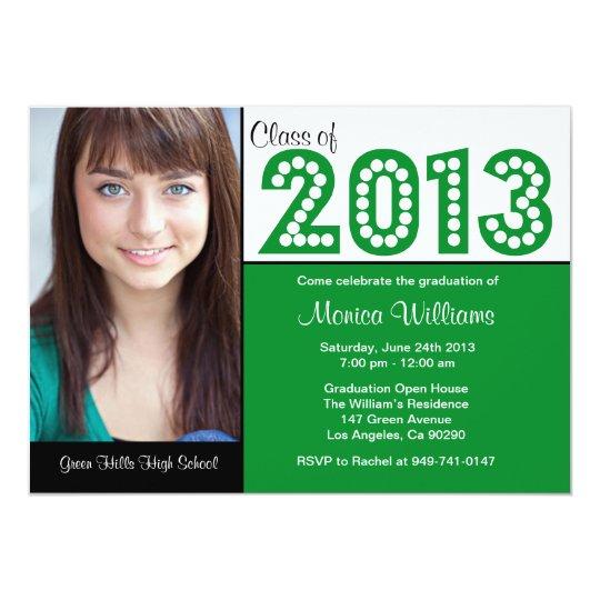 Class of 2013 Green Graduation Party Invitations