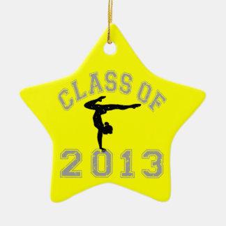 Class Of 2013 Gymnastics Ceramic Ornament
