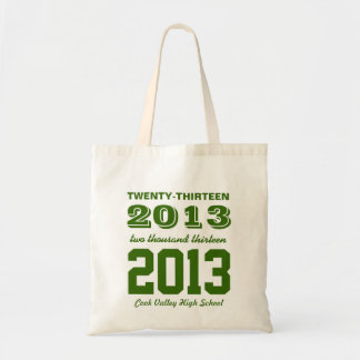 Class of 2013 High School Graduation Tote Forest Budget Tote Bag