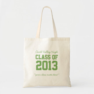 Class of 2013 High School Graduation Tote in Green