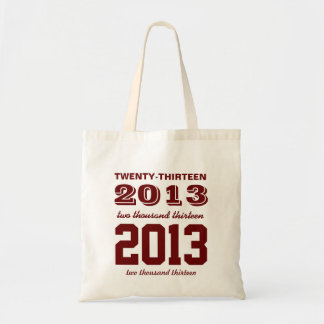 Class of 2013 High School Graduation Tote Maroon Budget Tote Bag