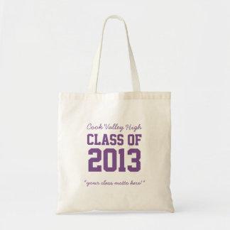 Class of 2013 High School Graduation Tote Purple Budget Tote Bag