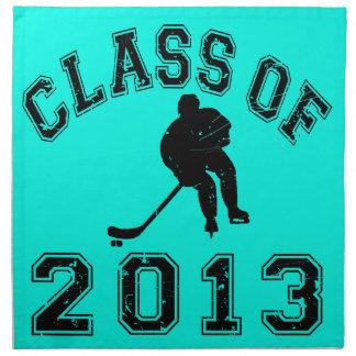 Class Of 2013 Hockey - Black 2 Cloth Napkin