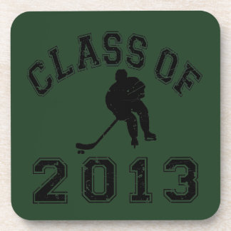 Class Of 2013 Hockey - Black 2 D Coaster