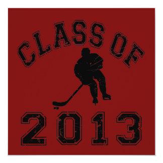 Class Of 2013 Hockey - Black 2 D Invitation