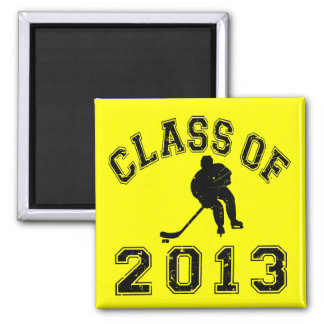 Class Of 2013 Hockey - Black 2 D Fridge Magnets