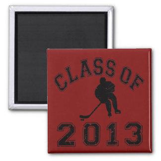 Class Of 2013 Hockey - Black 2 D Magnets