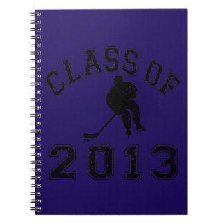 Class Of 2013 Hockey - Black 2 D Spiral Note Book