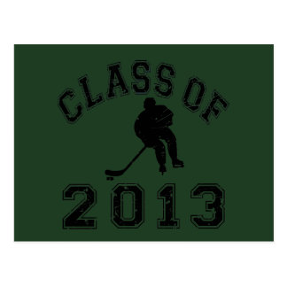 Class Of 2013 Hockey - Black 2 D Postcard