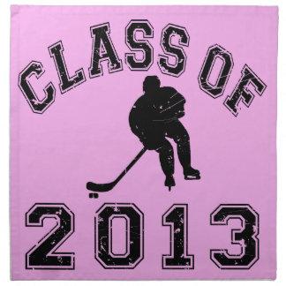 Class Of 2013 Hockey - Black 2 Napkin