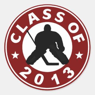 Class Of 2013 Hockey Classic Round Sticker
