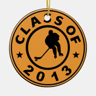 Class Of 2013 Hockey Double-Sided Ceramic Round Christmas Ornament