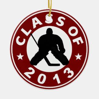 Class Of 2013 Hockey Goalie Ceramic Ornament