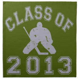 Class Of 2013 Hockey Goalie Cloth Napkin