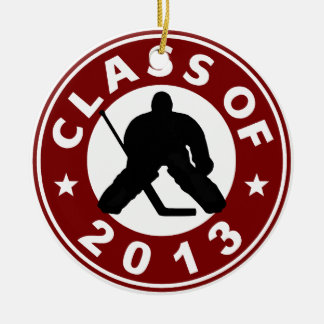 Class Of 2013 Hockey Goalie Double-Sided Ceramic Round Christmas Ornament
