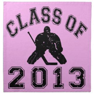 Class Of 2013 Hockey Goalie Napkin