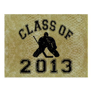 Class Of 2013 Hockey Goalie Postcard