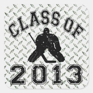 Class Of 2013 Hockey Goalie Square Sticker