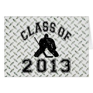 Class Of 2013 Hockey Goalie Stationery Note Card