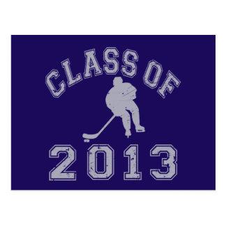 Class Of 2013 Hockey - Grey 2 Postcard