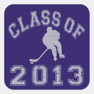 Class Of 2013 Hockey - Grey 2 Square Sticker