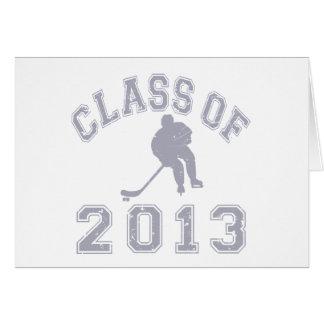 Class Of 2013 Hockey - Grey 2 Stationery Note Card
