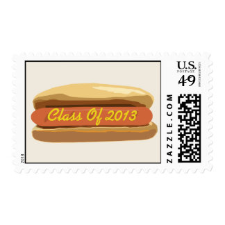 Class of 2013 Hot Dog With Mustard Postage Stamps