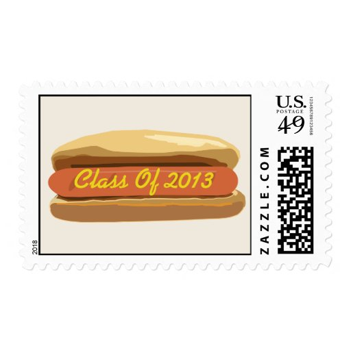 Class of 2013 Hot Dog With Mustard Postage Stamp