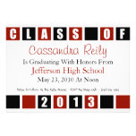 Class Of 2013 Invitation (Maroon / Black Boxes)